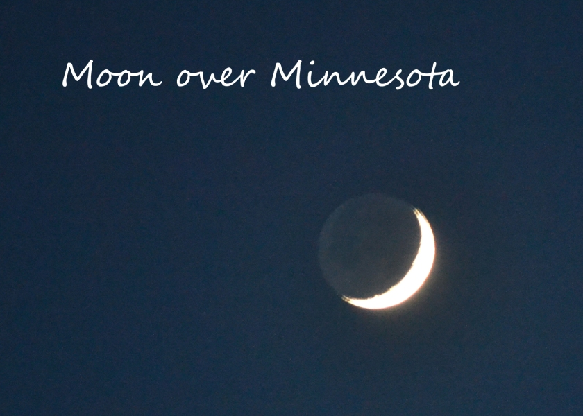 Moon over Minnesota